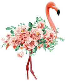 beautiful oil paintings single flower UK - Flowers Flamingo - Paint By Numbers Kits For Adults Diy Draw On Canvas Beautiful Painting By Numbers Hand Made Paint Handpainted Painting