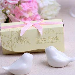 $enCountryForm.capitalKeyWord UK - wedding favor gift-- Ceramic Love Birds Salt and Pepper Shaker party souvenir 5Kind of ribbon can choose 2pieces=1 set ST066