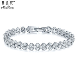 $enCountryForm.capitalKeyWord NZ - Manxiuni Hot Selling Roman Chain Bracelet for Women Luxury 2.75mm Cubic Zircon Inlay Charm Bracelet Bride Wedding Jewelry