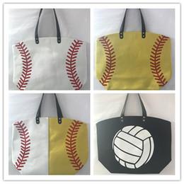 Patchwork Plaid Handbags Australia - Women Single Shoudler Totes Bassball Sports Bag Canvas Handbags Soccer Pattern Duffle Bag Travel Wallets Storage Bag Large Capacity A22803