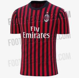 Chinese  19 20 ac Milan soccer jersey 2019 AC Milan Piatek BACCA PAQUETA BONUCCI home BERTOLACCI MENEZ CALHANOGLU football shirts manufacturers