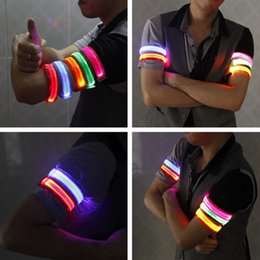 Led Flashing Wrist Band Bracelet Arm Band Belt Safety Bands For Cycling/skating/party/shooting 7 Colors For Night Running Cycl Running Arm Warmers Sports & Entertainment