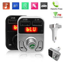 Wholesale B3 Wireless Bluetooth Multifunction FM Transmitter USB Car Chargers Adapter Mini MP3 Player Kit Holders TF Card HandsFree Headsets Modulator