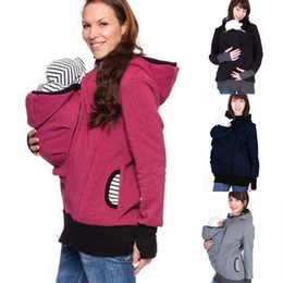 kangaroo hoodie NZ - Enbeautter Parenting Child Winter Pregnant Women 'S Sweatshirts Baby Carrier Wearing Hoodies Maternity Mother Kangaroo Clothes Newest