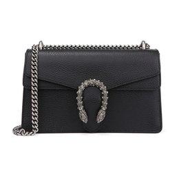 $enCountryForm.capitalKeyWord UK - Lady Black Cow Leather Medium Bacchus Shoulder Bag 400249 T