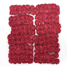 $enCountryForm.capitalKeyWord NZ - 144pcs Foam Teddy Bear Rose Decoration Pe Foam Rose Head Fake Flower Handmade Wedding Decoration Srapbooking Gift Box Diy Wreath