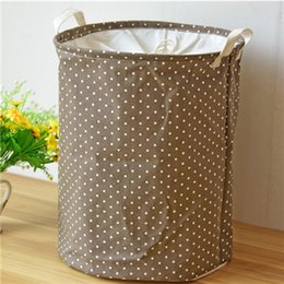$enCountryForm.capitalKeyWord Canada - Lovely Point Basket For Toys 35*45CM Linen Laundry Basket Folding Dirty Clothes Storage Storage Basket ZJ0684
