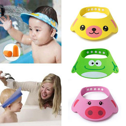 $enCountryForm.capitalKeyWord NZ - New Kids Bath Visor Hat,Adjustable Baby Shower Cap Protect Shampoo, Hair Wash Shield for Children Infant Waterproof Cap#256643