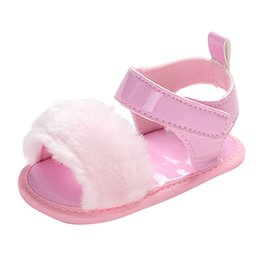 $enCountryForm.capitalKeyWord UK - Baby Girls Baby Solid Color Buckle Shoes Sandals Single Shoes Soft Sole 2019 Male And Female New Sandals #YL1