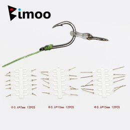 spiking hair 2019 - Bimoo 24PCS Carp Fishing Hair Rig Baits Pins for Carp Boilies Pop ups Metal Bait Spike Fishing Hook Bait Boilies Pin che