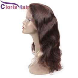 Long Colored Hair Australia - Reliable Human Hair Wig Vendor Pre Plucked #2 Body Wave Malaysian Full Lace Wigs For Black Women Colored Dark Brown Braided Lace Front Wig