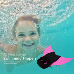 $enCountryForm.capitalKeyWord Australia - 2019 Children Outdoor Swimming Flippers Mermaid Tail Diving Monofin for Kids Training Learning Accessories Soft and