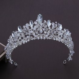 $enCountryForm.capitalKeyWord Australia - European Style Big Crown Headwear Bride Wedding Tiara Bridal Makeup Headdress Princess Baroque Crown Wedding Hair Accessories Y19061503