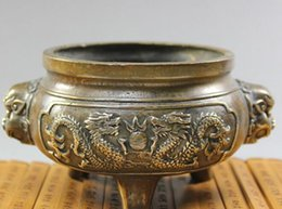 Brass censer online shopping - copper brass censer sandalwood incense incense antique bronze bronze Buddhist Taoist activities antique incense