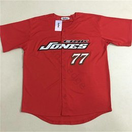 $enCountryForm.capitalKeyWord Australia - Cheap CHECKERED FLAG ERIK JONES 77 BASEBALL JERSEY Red Mens Stitched Jerseys Shirts Size S-XXXL Free Shipping