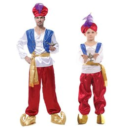 aladdin costumes NZ - Kids Lampada Aladdin Clothing Boys Prince Clothes Arabia Aladdin Costume Jasmine MV Cosplay Outfits Anime Arabian Lamp cloth