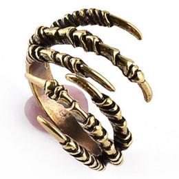 $enCountryForm.capitalKeyWord Australia - Hip Hop Gothic Ring For Men Women Dark dream Vintage Punk Jewelry Adjustable Eagle Claw Skull Skeleton Rings Hippie Jewelry