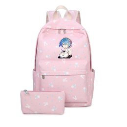 $enCountryForm.capitalKeyWord Australia - Nice Re:life In A Different World From Zero Rem Ram Printing Backpack Kawaii Women Backpack Canvas School Bags For Teenage Girls