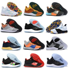 Wholesale g stars resale online - 2019 Paul George III sneaker pg nasa black white bhm pg3 all star gs basketball shoes for men Size