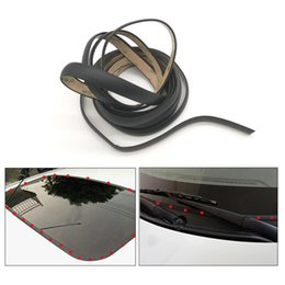 car sealing Australia - 5meters Car Sunroof Weatherstrip Window Sealant Rubber Seal Strip Front Rear Windshield Triangular Window Waterproof Seal Trim