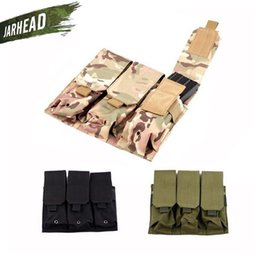 $enCountryForm.capitalKeyWord NZ - Outdoor Multifunctional Camouflage MOLLE Tactical Triple Triple Magazine Pouch Mag Holder Military Tactical Vest Accessory Bag #768024