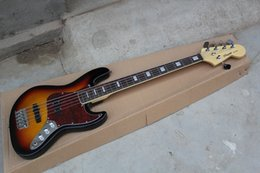 Discount bass guitars sales - 5 string bass guitar,The black edge of the orange body ,ex-factory price sale