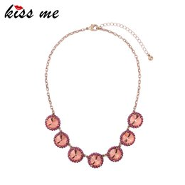 $enCountryForm.capitalKeyWord Australia - Blue Red Glass Crystal Round Choker Necklaces For Women Chic Short Chain Collar Necklace Woman Luxury
