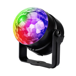 magic lantern UK - Bluetooth Speaker Stage Light 9 Color Night Light USB Mini Crystal Magic Ball Bedroom KTV Lantern - R29