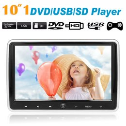 """$enCountryForm.capitalKeyWord Australia - JD-1018D 10.1"""" Car Headrest DVD Player Auto Monitor Touch Button Player w Speakers Support Game Disk FM IR HD Input AV IN OUT SD"""
