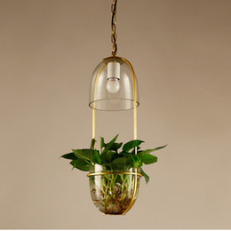 $enCountryForm.capitalKeyWord Australia - Garden Flowers Potted Plants Pendant Lamp Wrought iron Glass Garden Suspension Lights Nordic bar Bedroom Suspension Lamp