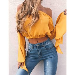 $enCountryForm.capitalKeyWord Australia - New Fashion Women Sexy Off Shoulder Crop Tops Summer Casual Loose Tops T-shirt Sexy Street Wear 2018 Hot Sale