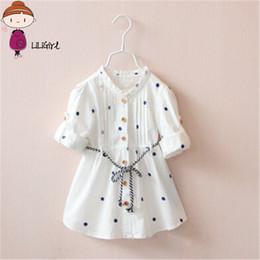 $enCountryForm.capitalKeyWord Australia - 2019 New Designer Dress Spring And Autumn Children Girls White Flower Cheery Embroidery Cotton Girl Shirt Half Dress Y19061801