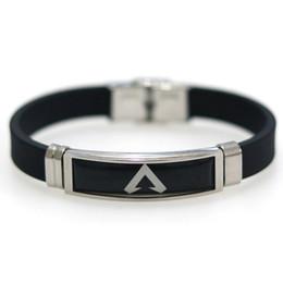 $enCountryForm.capitalKeyWord UK - Hot Game Logo Engraved Stainless Steel Wristband Friends Gift Fans Souvenir Bangle Apex Legends Bracelet