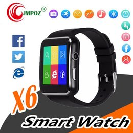 $enCountryForm.capitalKeyWord NZ - X6 Smart Watches With Camera Touch Screen Support SIM TF Card Bluetooth Smartwatch For Iphone X Samsung s9 Android Phone with Retail Box