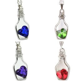 China Beautiful Women Necklace Fashion Popular Crystal Necklace Love Drift Bottles Jewelry Accessories Gift Torque Fabulous Pendientes cheap jewelry torque suppliers