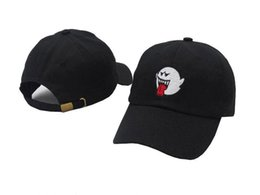 China Cheap New Black Denim Distressed Boo Mario Ghost Dad Hat Vetements Cap hip hop baseball Cap hats for men women snapback Casquette supplier distressed cotton suppliers