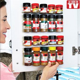 Kitchen Cabinets Sets Australia - Clip N Store Home Kitchen Organizer Stick Spice Rack Storage Gripper Holder Kitchen Gadgets Cooking Tools 4PCS SET 20 Cabinet VT0006
