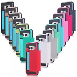 $enCountryForm.capitalKeyWord Australia - Dual Layer Armor Coque Phone Case with Slide Card Fundas Case for Iphone 6s 6plus 7 8plus X XS XR XS Max Samsung S8 S8 Plus S9 Note 9