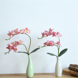 China Artificial Butterfly Orchid Vivid Real Touch Home Wedding Decorative Phalaenopsis Flowers Chinese Style Colorful Fake Flowers suppliers