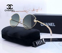 SunglaSSeS woman circular online shopping - Fashio Designer Sunglasses Luxury Sunglasses for Womens Grace Circular Design Glasses Adumbral Glasses UV400 Brand C0018 Colors with Box