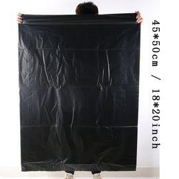 Ingrosso 100pcs / lot di immondizia a gettare il sacchetto addensare Trash Borse Nero sacchetto dei rifiuti 45 * 50cm Eco-friendly durevole Trash Bag ermetiche sacchetti di immondizia aC BH3462