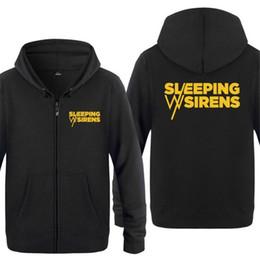 $enCountryForm.capitalKeyWord NZ - Mens Hoodies Novelty SLEEPING WITH SIRENS Letter Hoodie Men Zipper Fleece Long Sleeve Men's Jacket Sweatshirt Skate Tracksuits