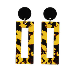 $enCountryForm.capitalKeyWord Australia - Fashion Trend Jewelry Simple Design Geometric Earrings Square Rectangle Acetic Acid Resin Acrylic Earrings For Women