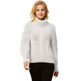 $enCountryForm.capitalKeyWord Australia - women's sweater 2019 cardigan women's jacket Fashion Long Sleeve Turtle Cowl Neck Knitted Sweater Wrap Pullover