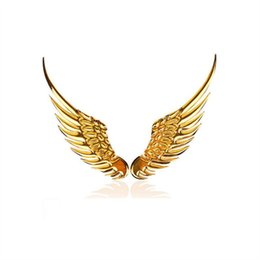 3d angel stickers online shopping - 3D angel wings car motorcycle metal stickers car tail sticker personalized decoration three dimensional stickers