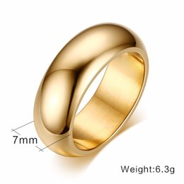 Discount stainless steel couple finger rings - Wholesale Women Men Simple Finger Ring Jewelry 5 color Stainless Steel Couple Rings for Wedding Engagement