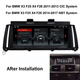 Touch Screen Car Stereo Gps Bluetooth Australia - COIKA Car DVD Multimedia Player GPS Navi Android 8.1 System For BMW X3 F25 X4 F26 2011-2016 Touch Screen Stereo 4 Core CPU Bluetooth SWC
