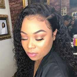$enCountryForm.capitalKeyWord Australia - Short Curly Human Hair Bob Wig Full End Lace Front Human Hair Wigs For Black Women Brazilian Remy Pre Pluck with Bleached Knots