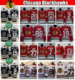 2019 d'hiver classique Chicago Blackhawks Maillots de hockey 77 Kirby Dach Jonathan Toews Patrick Kane Keith Crawford Alex Saad Seabrook DeBrincat