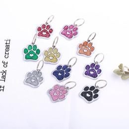 $enCountryForm.capitalKeyWord Australia - Personalized Dog Tags Cat Puppy Pet ID Name Collar Tag Pendant Pet Accessories Bone Glitter Size Diameter 25mmZ622